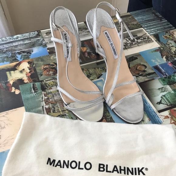 Manolo Blahnik Classic Silver Heels